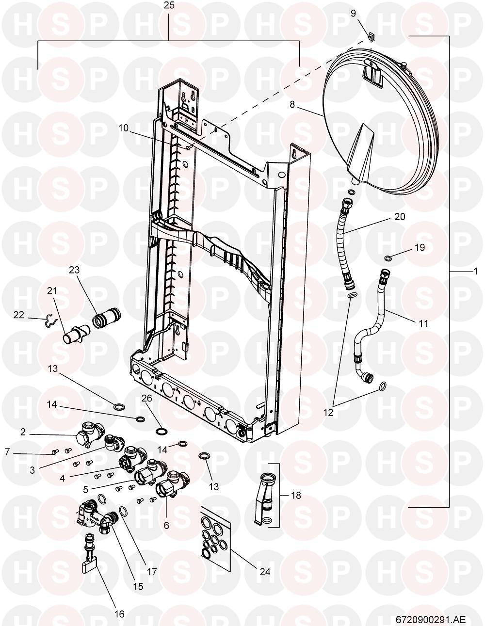 Worcester Greenstar 24i system (Wall Jig & Hydraulic