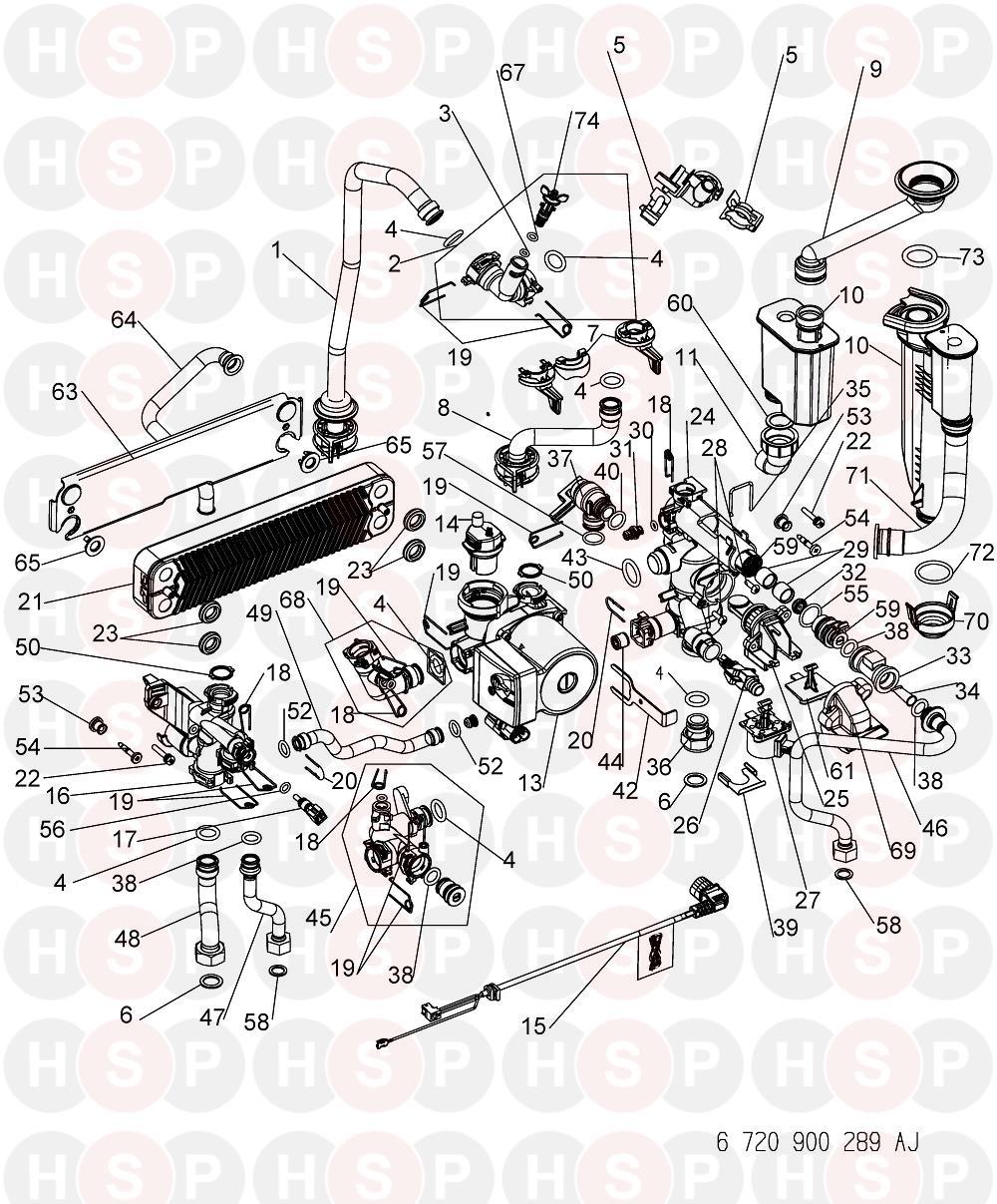 Worcester Greenstar 15 I System  Hydraulics  Diagram