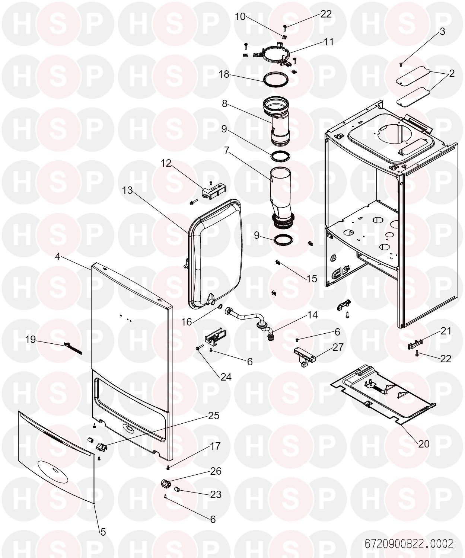 Worcester GREENSTAR 21 i SYSTEM ERP (CASING) Diagram
