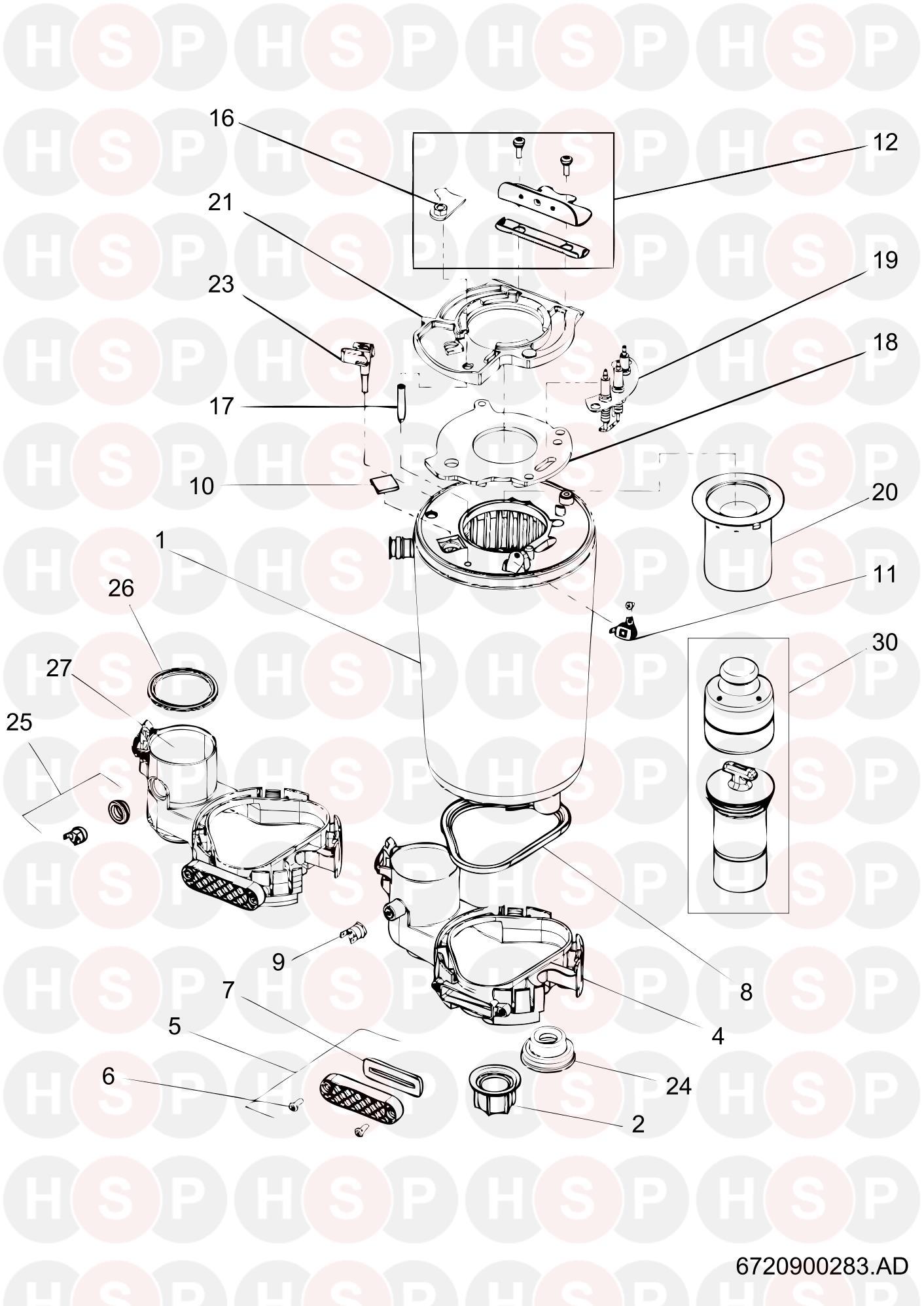 Worcester Greenstar 30 Si (HEAT EXCHANGER) Diagram