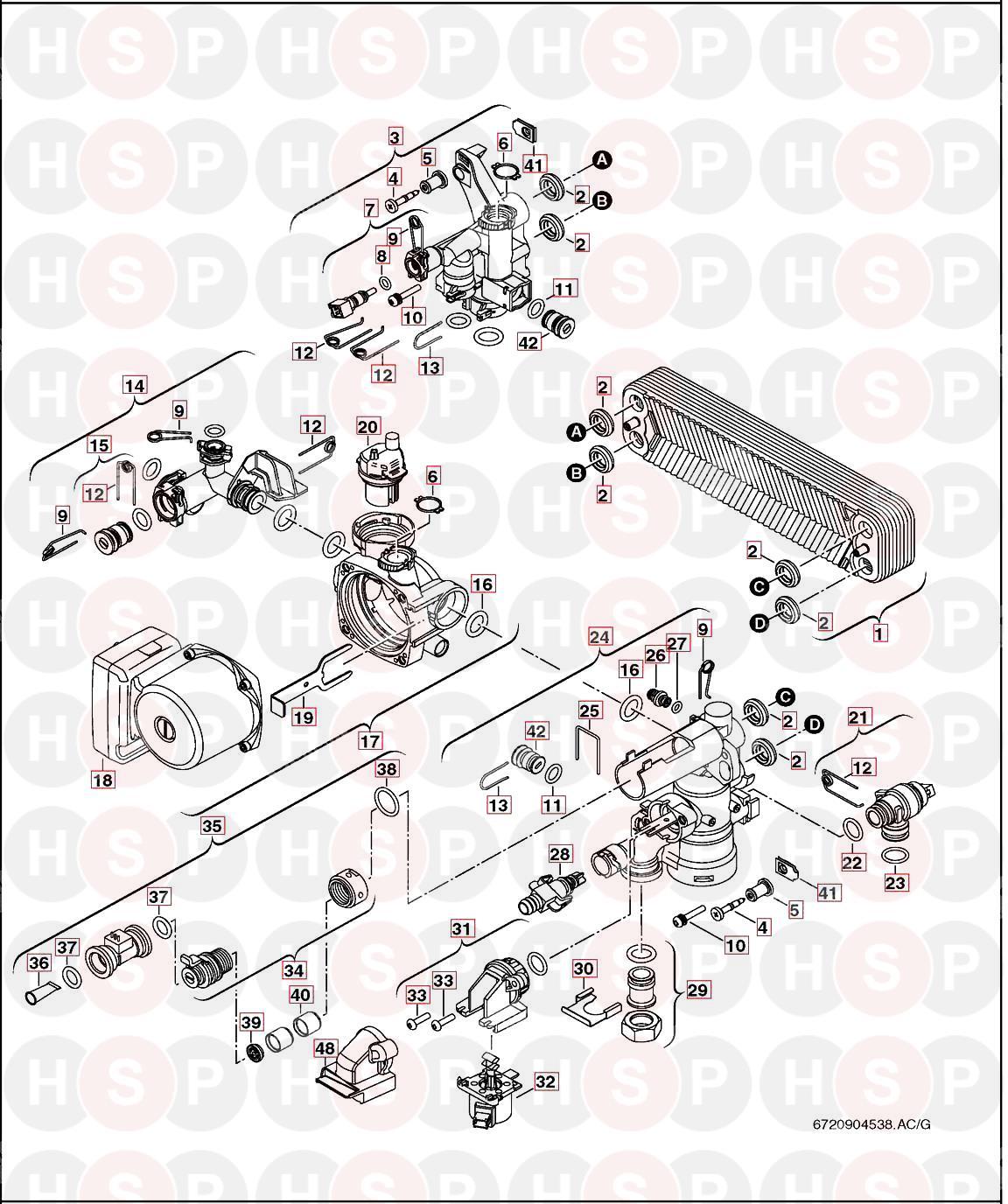 Worcester GREENSTAR 29CDI CLASSIC (HYDRAULIC BLOCK
