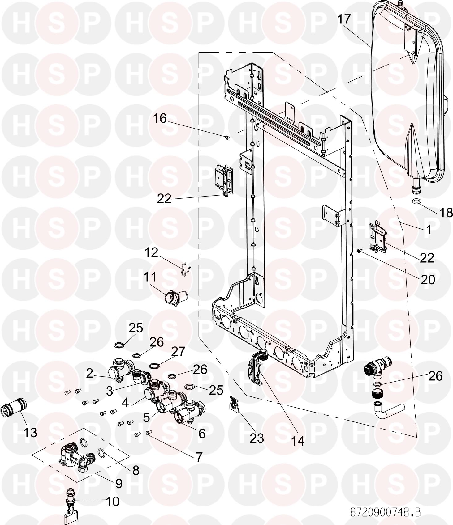 worcester greenstar 28cdi compact  wall jig expansion vessel  diagram