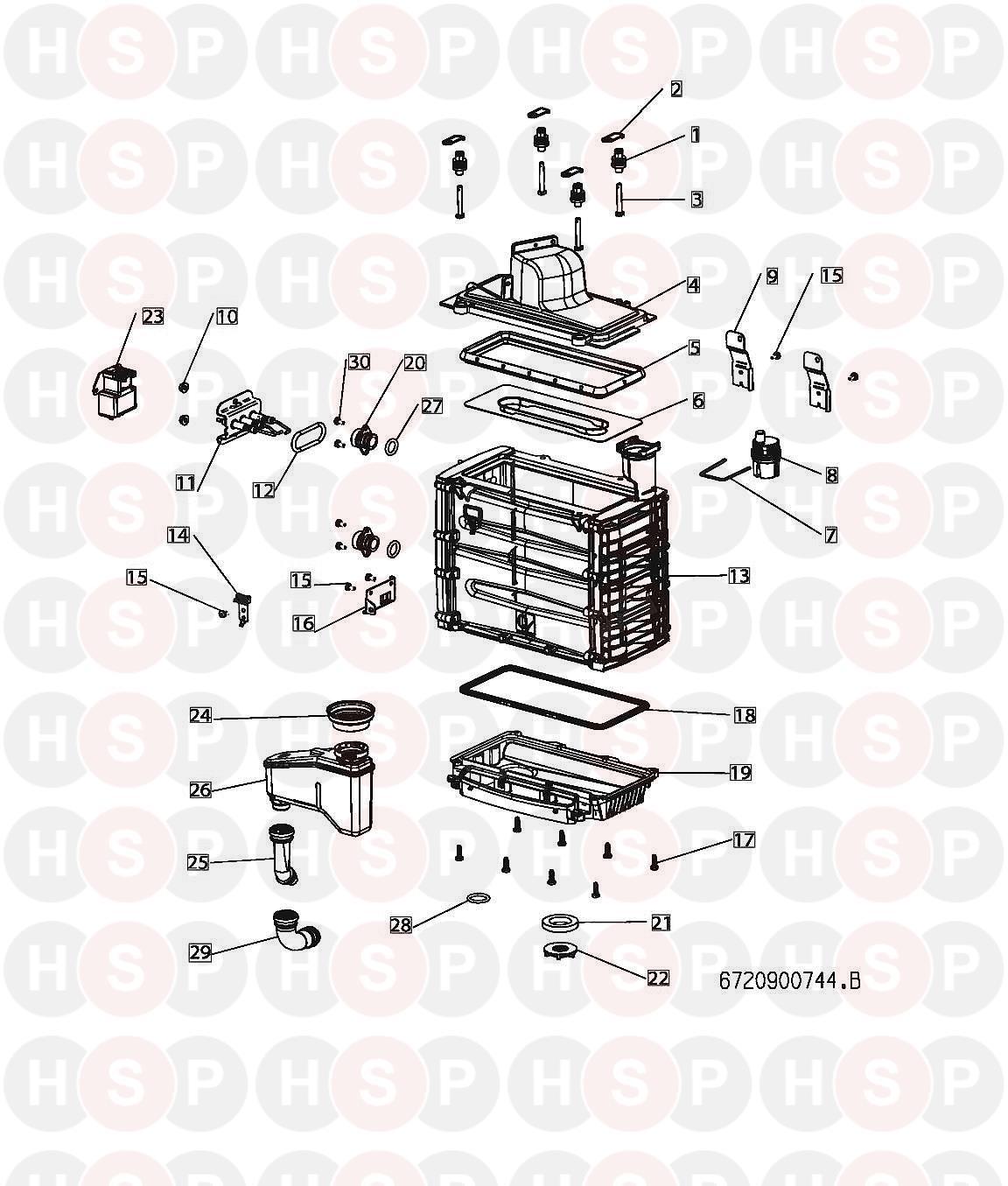 Worcester GREENSTAR 533 COMPACT Appliance Diagram (BURNER