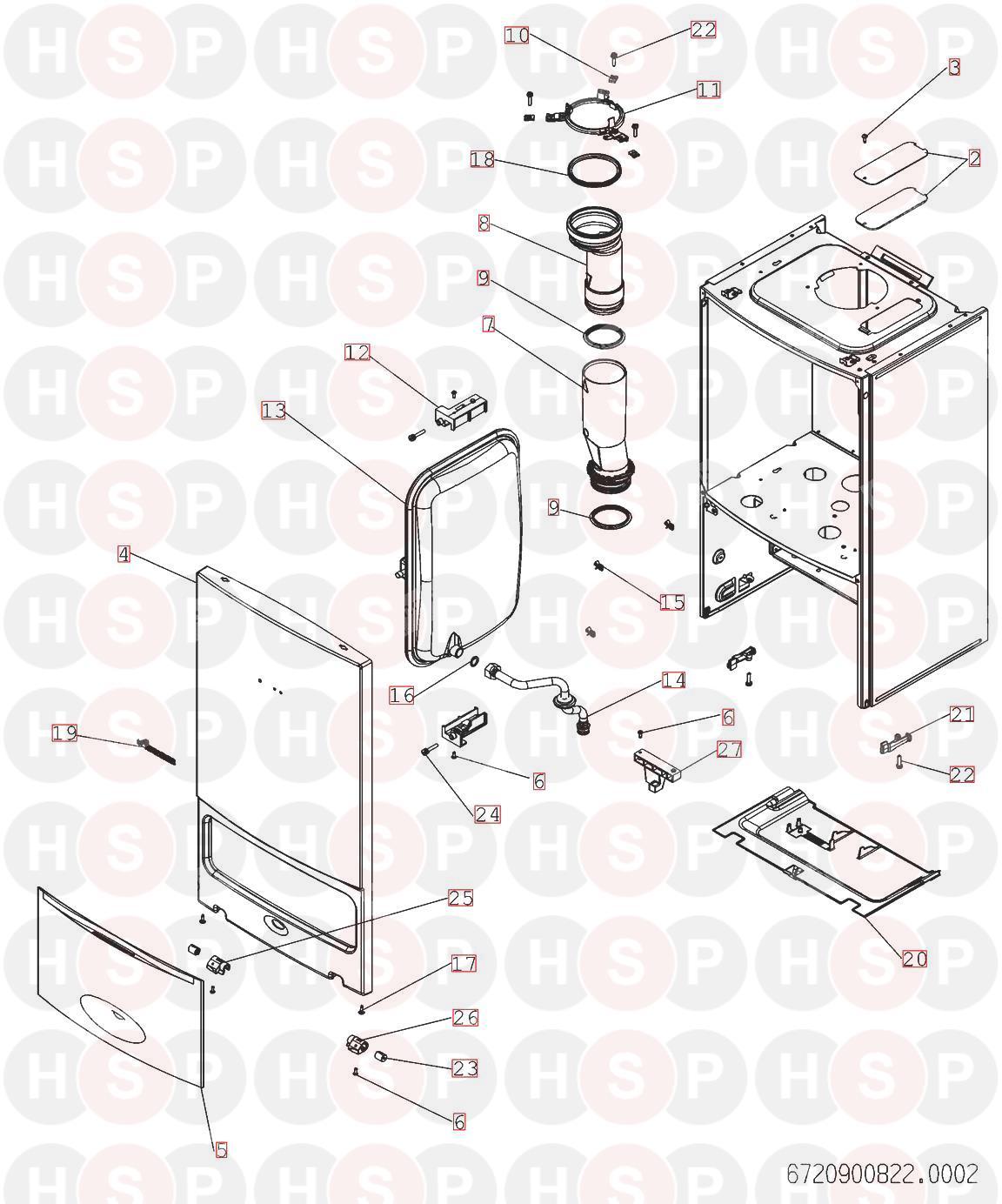 Worcester GREENSTAR 30 i ERP Appliance Diagram (CASING