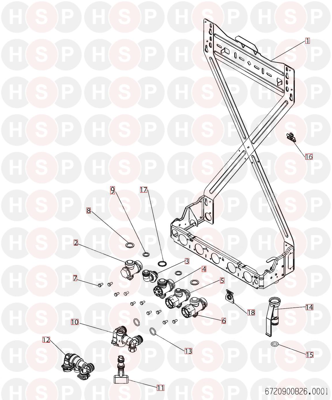 Worcester GREENSTAR 25 i ERP (MOUNTING PLATE) Diagram
