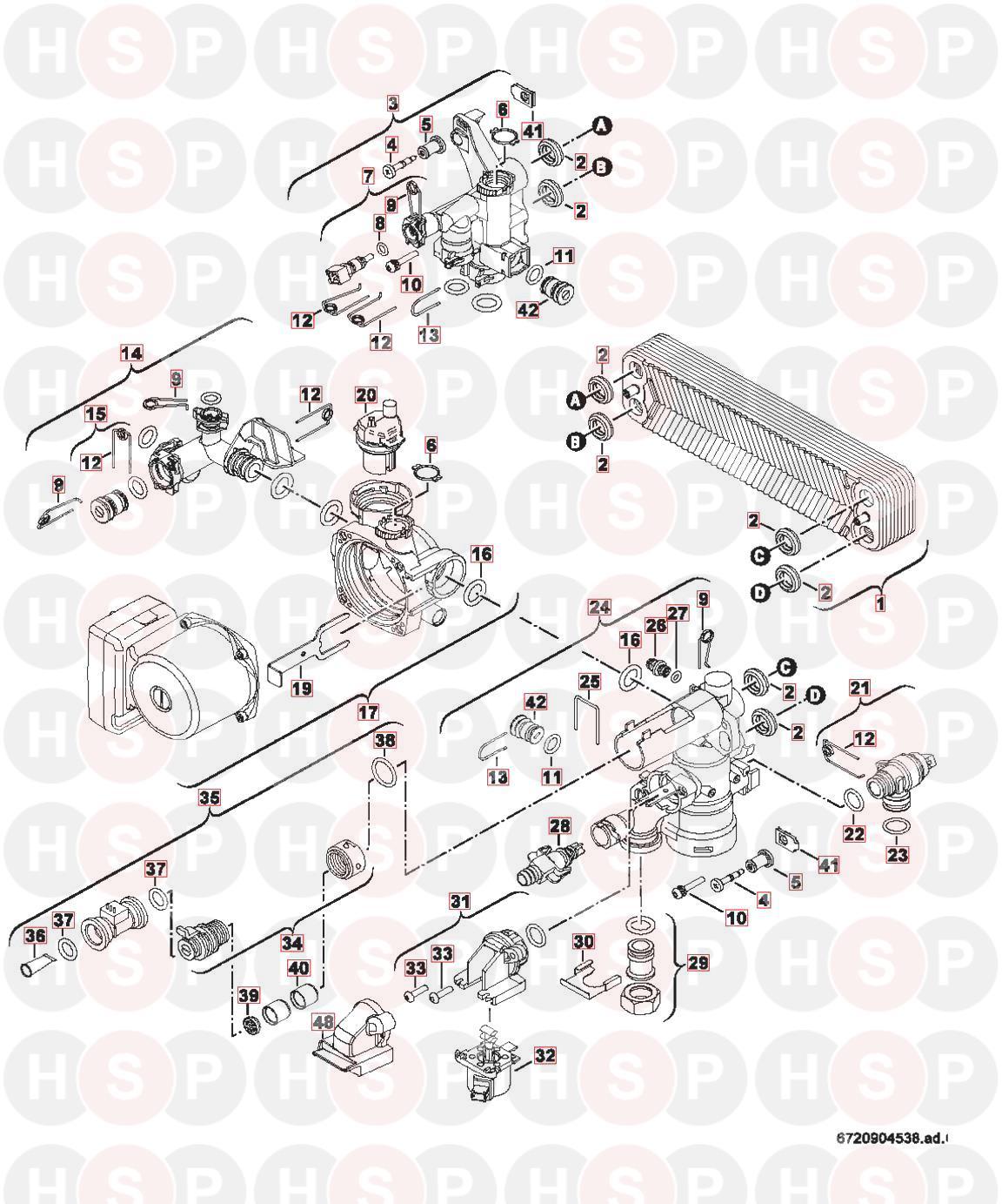 Worcester Greenstar 42cdi Classic Erp Appliance Diagram