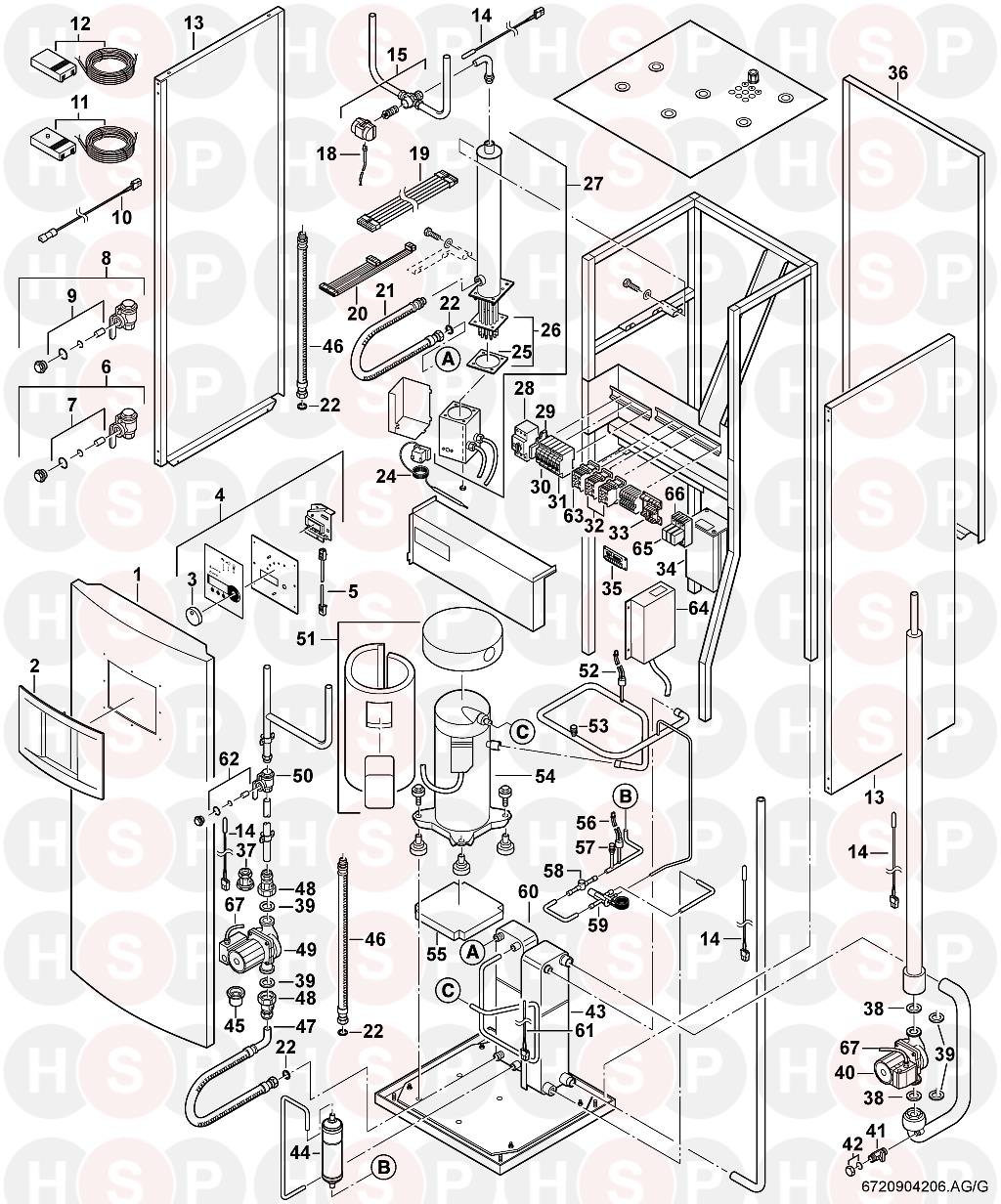 worcester 11 system soft start  exploded view  diagram