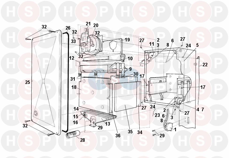 Worcester 24i-RSF/NG (SUPERSTRUCTURE) Diagram | Heating Spare Parts
