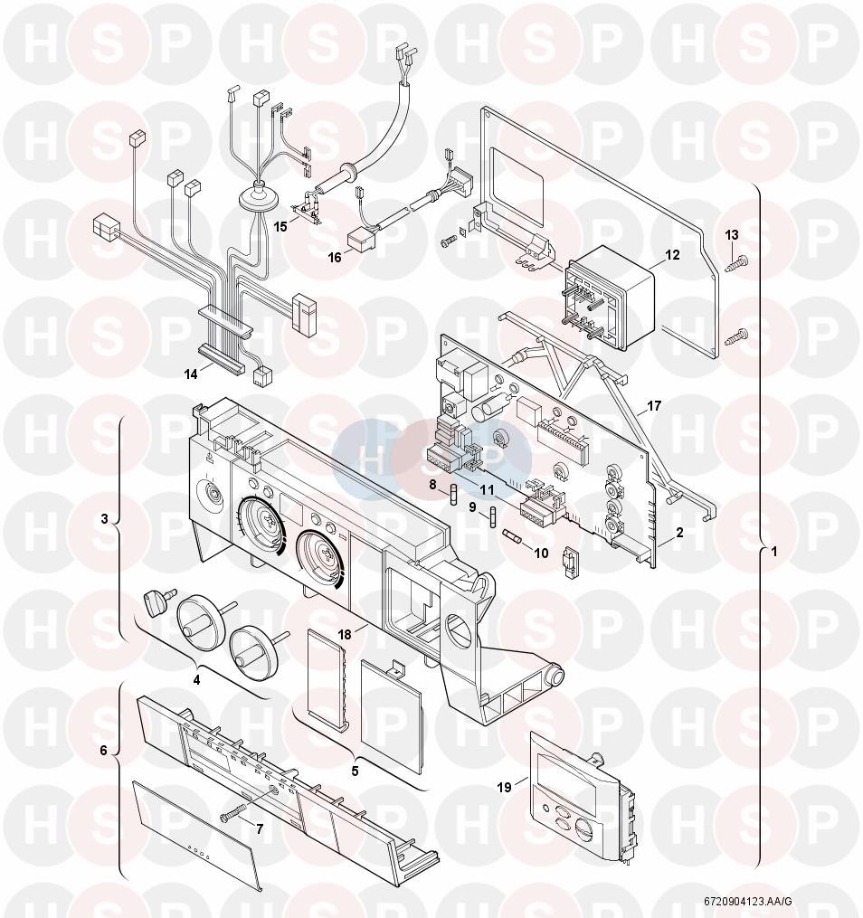 Worcester GREENSTAR R30 HE COMBI (Control Box) Diagram