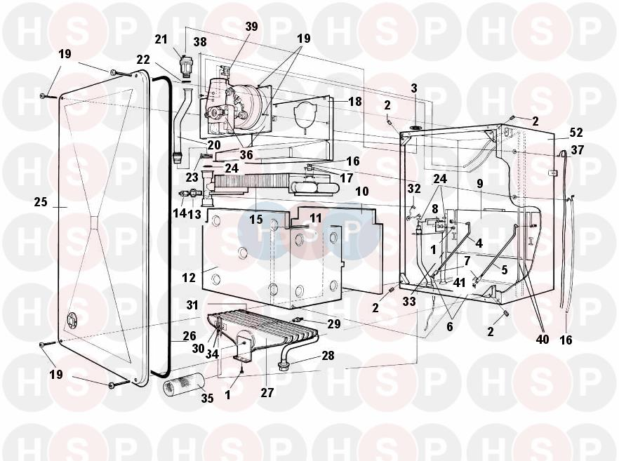 Worcester 28CDi-RSF/NG (SUPERSTRUCTURE) Diagram | Heating Spare Parts