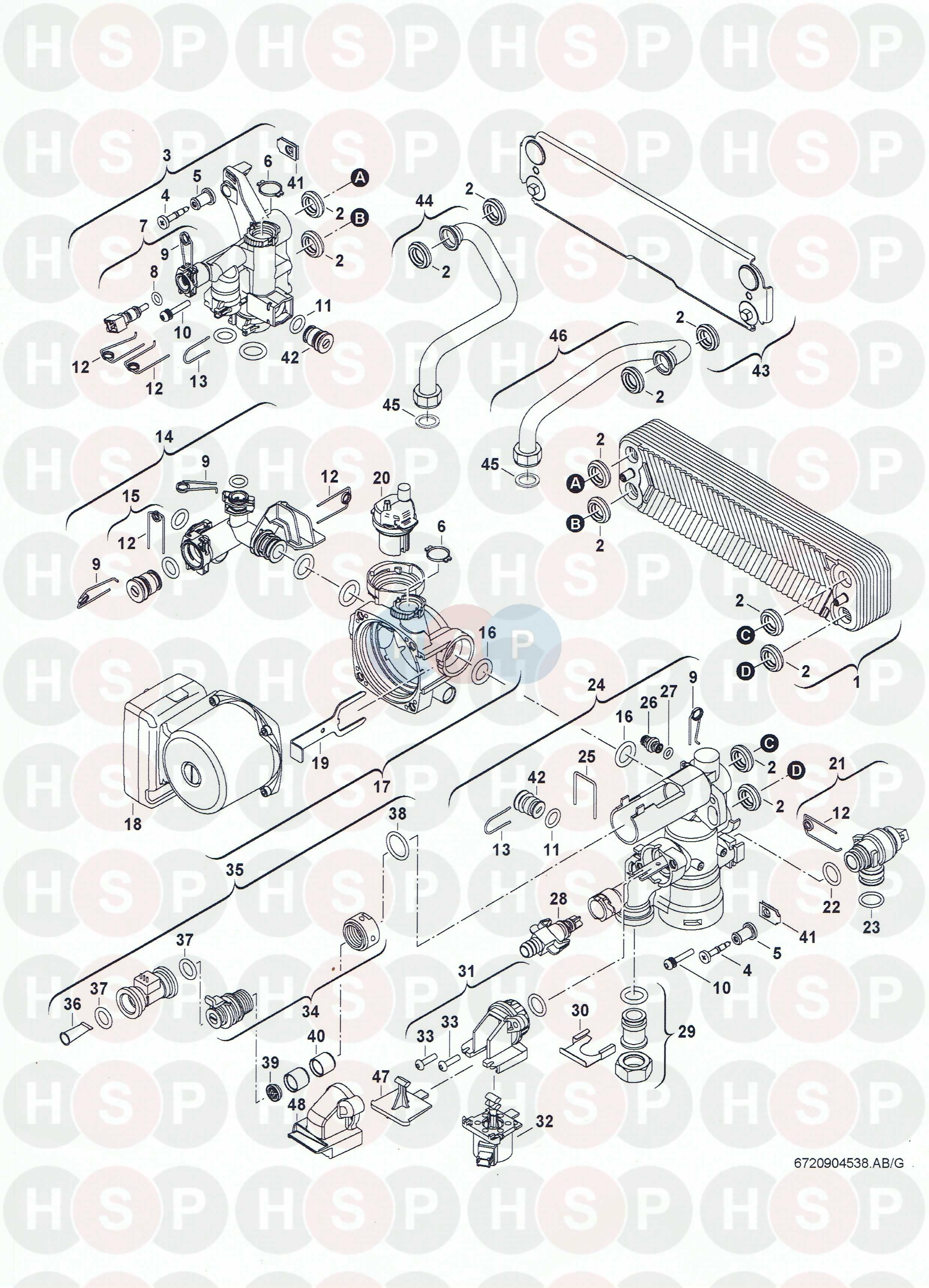 Worcester Greenstar 30CDI system (Hydraulics) Diagram