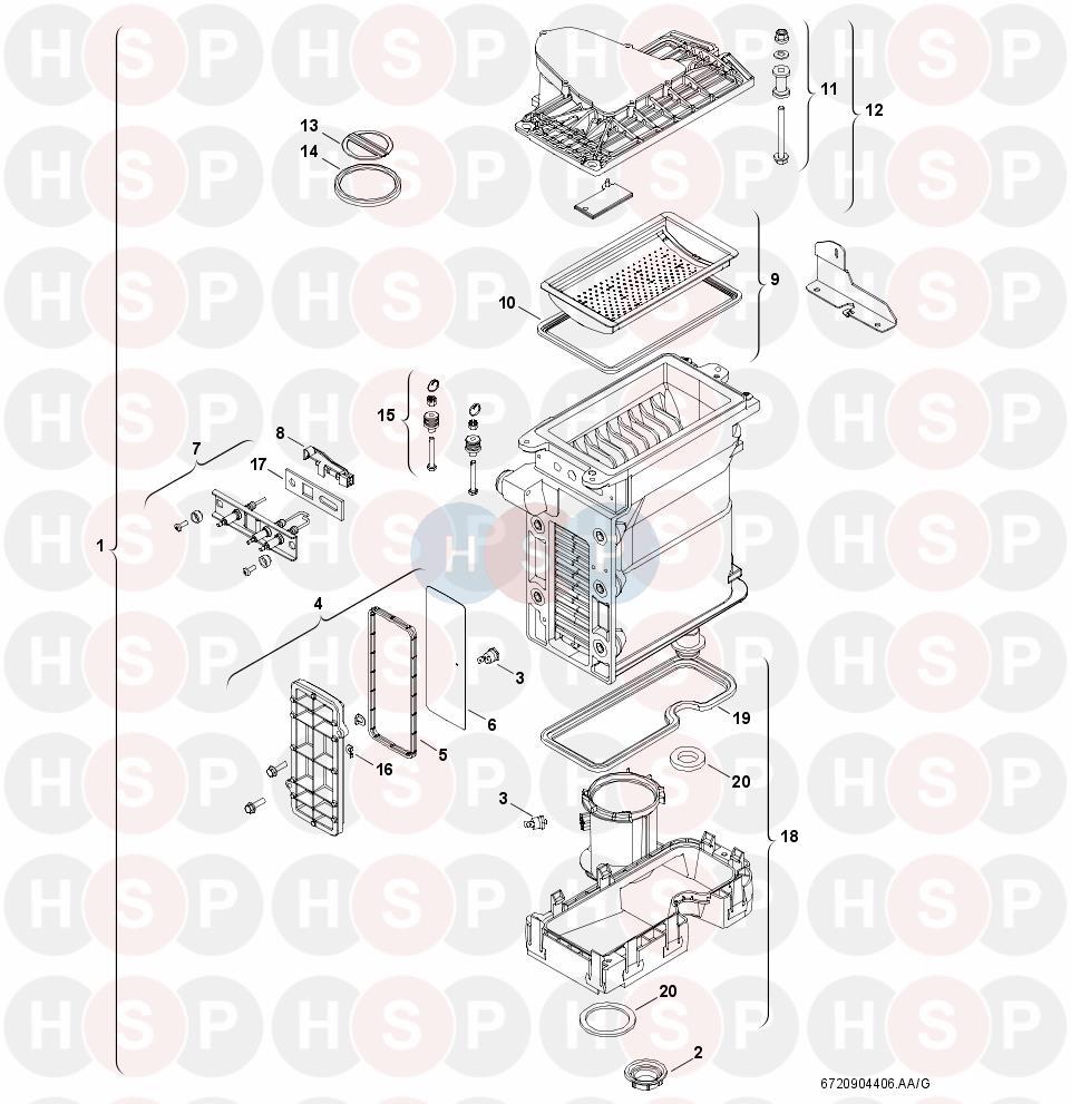 Worcester GREENSTAR COMBI 40 CDI (HEAT EXCHANGER) Diagram