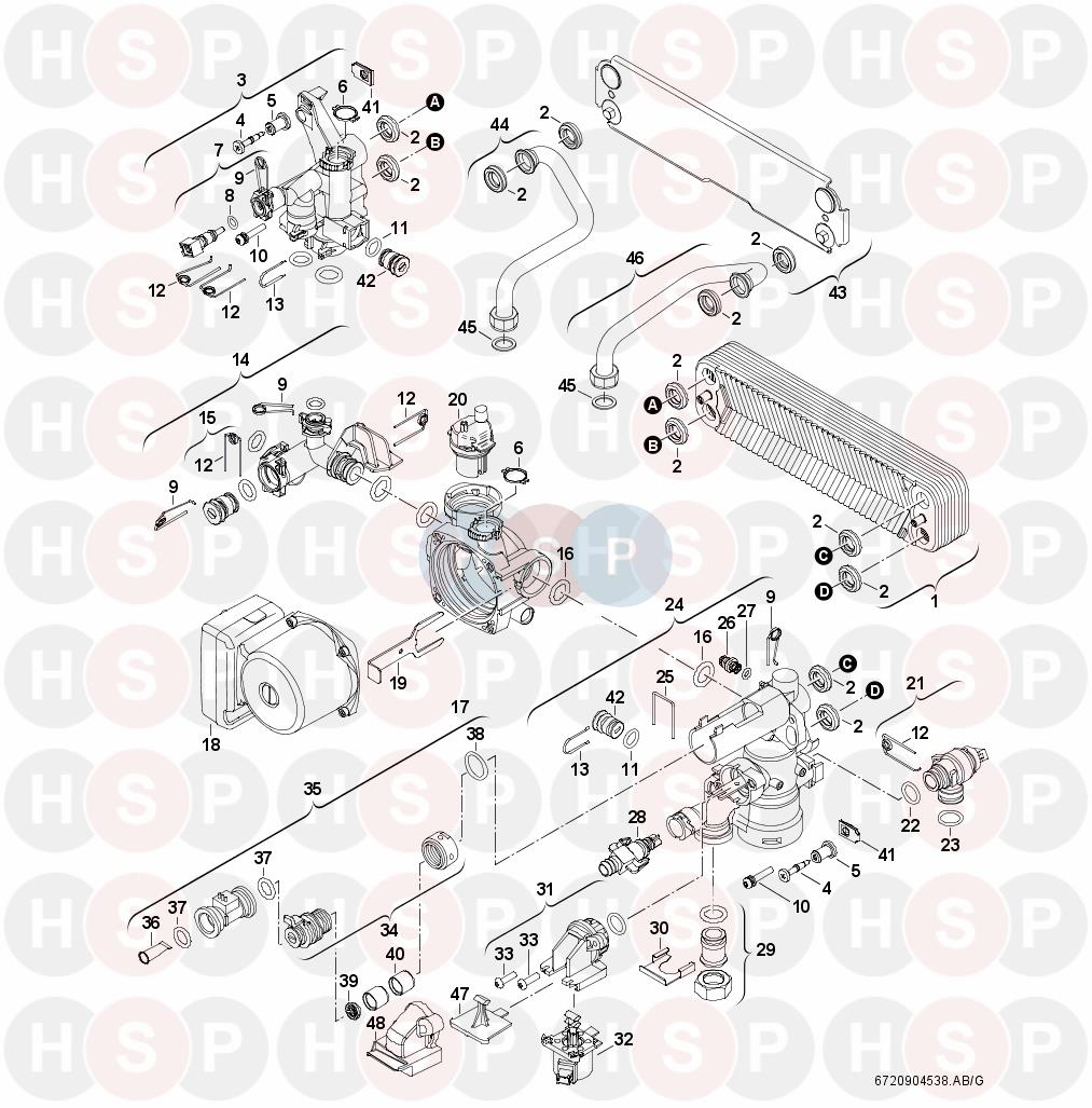 Worcester GREENSTAR COMBI 40 CDI (Hydraulics) Diagram