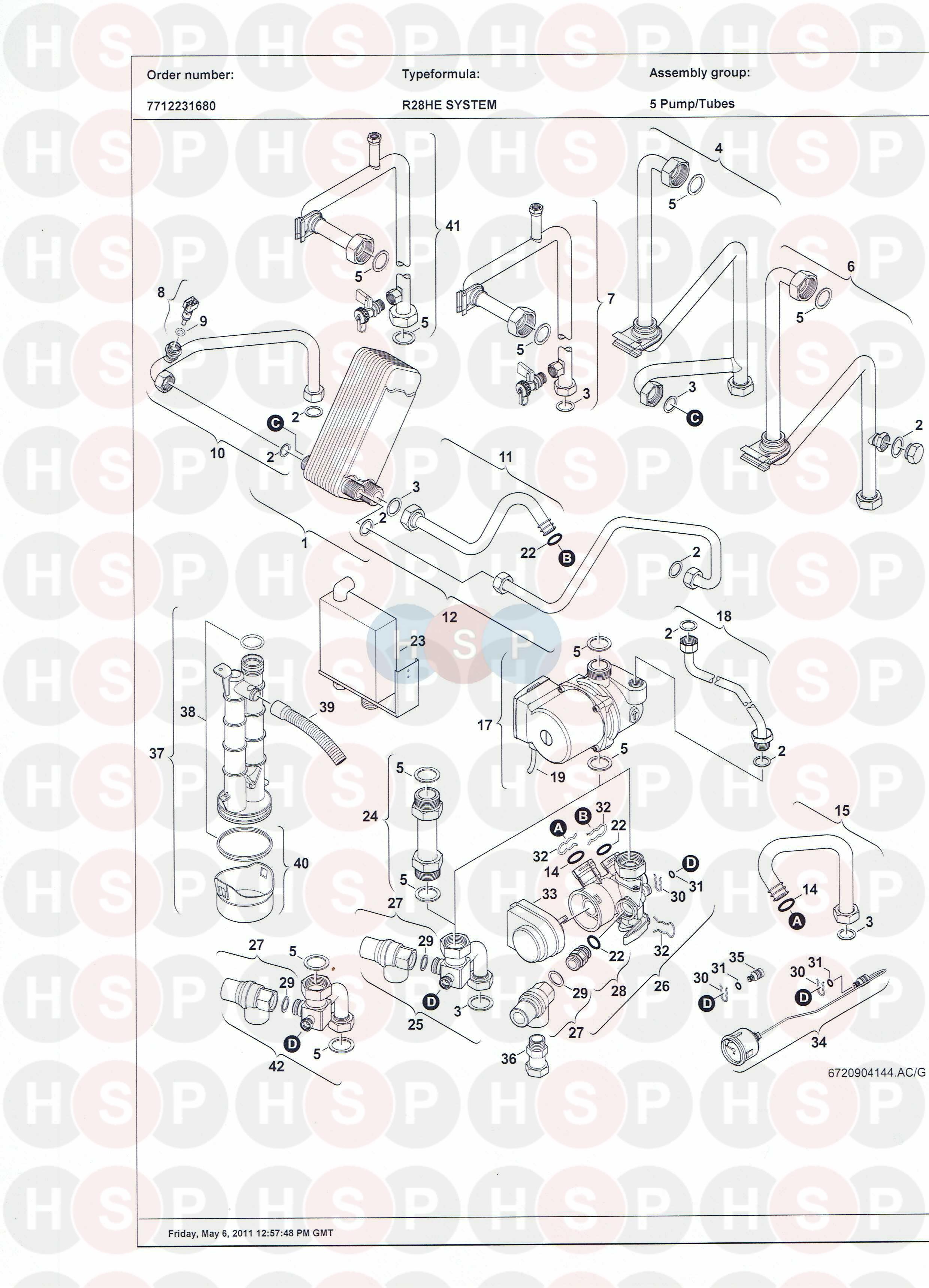 Worcester GREENSTAR R28 HE SYSTEM (Pump/Valve/Pipework