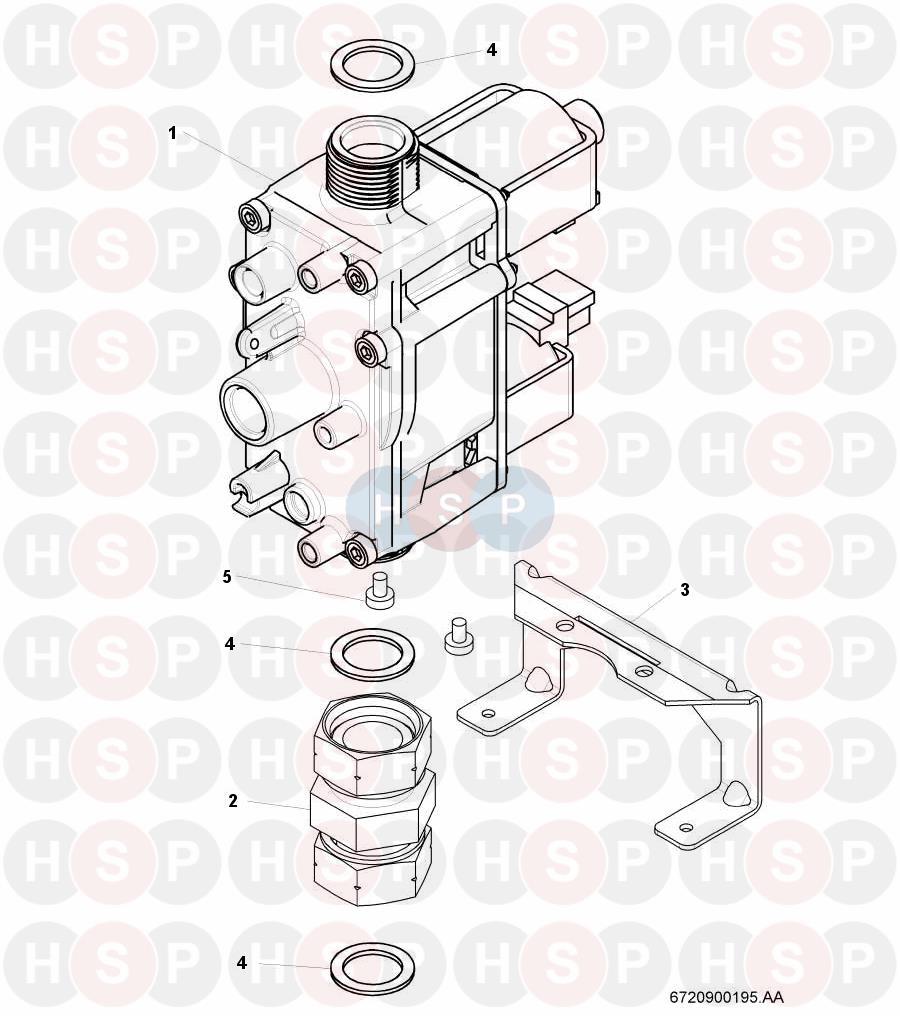 worcester 24si ii  gas valve  diagram