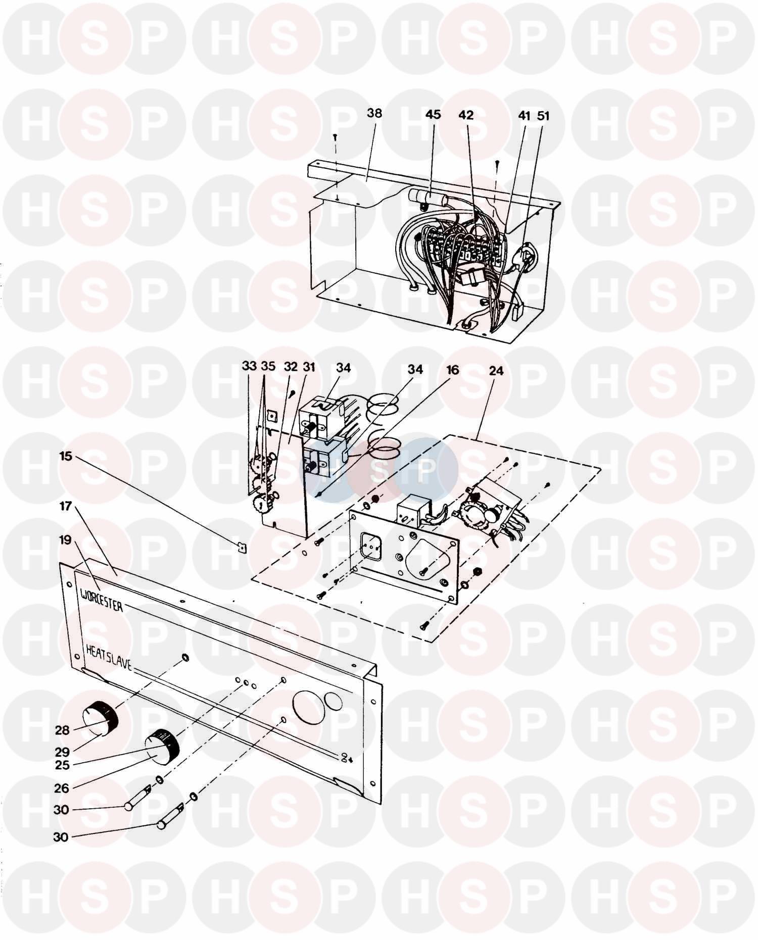 Worcester HEATSLAVE 2+ G40 BF DELUXE Appliance Diagram