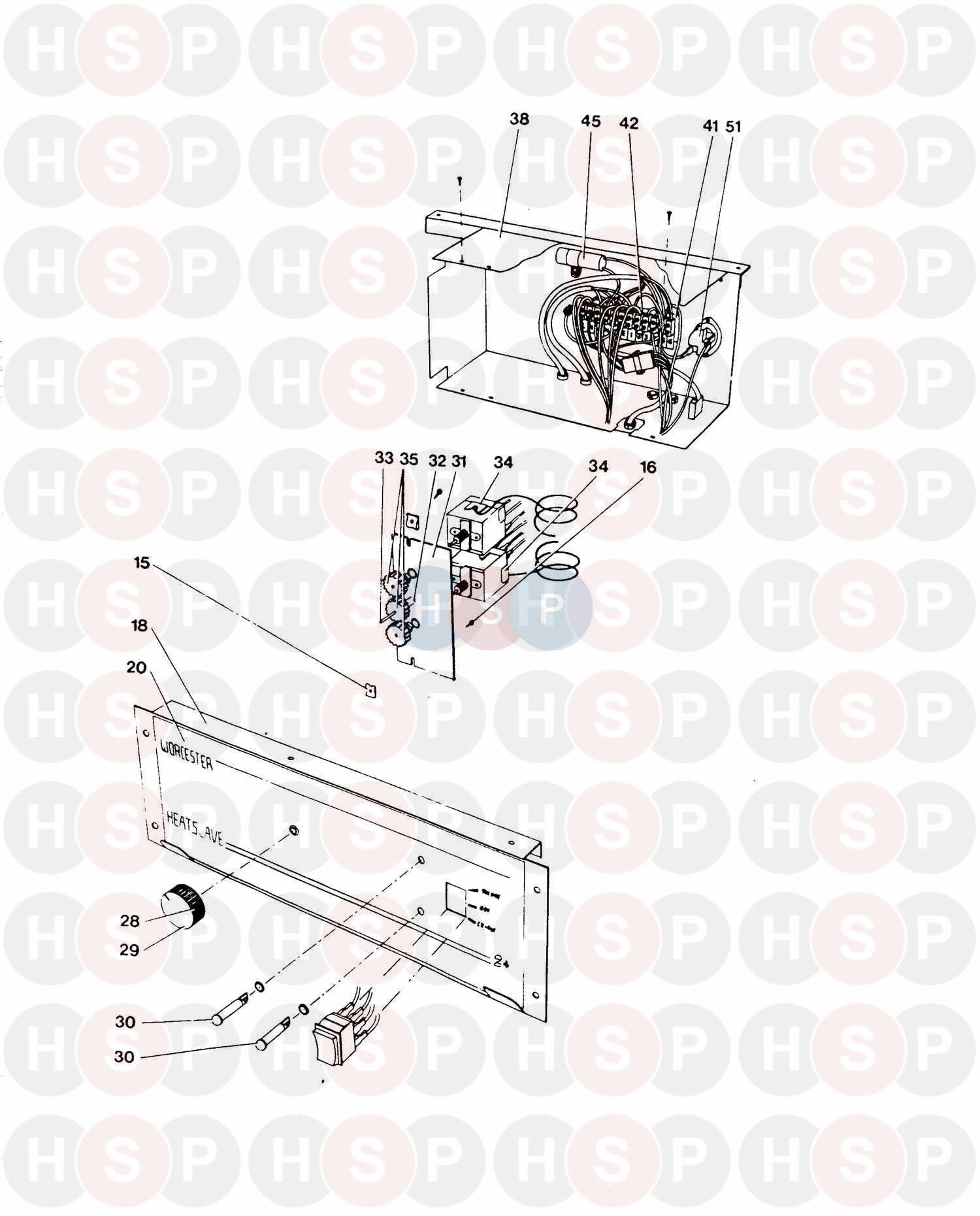 Worcester HEATSLAVE 2 + G40 BF DELUXE Appliance Diagram