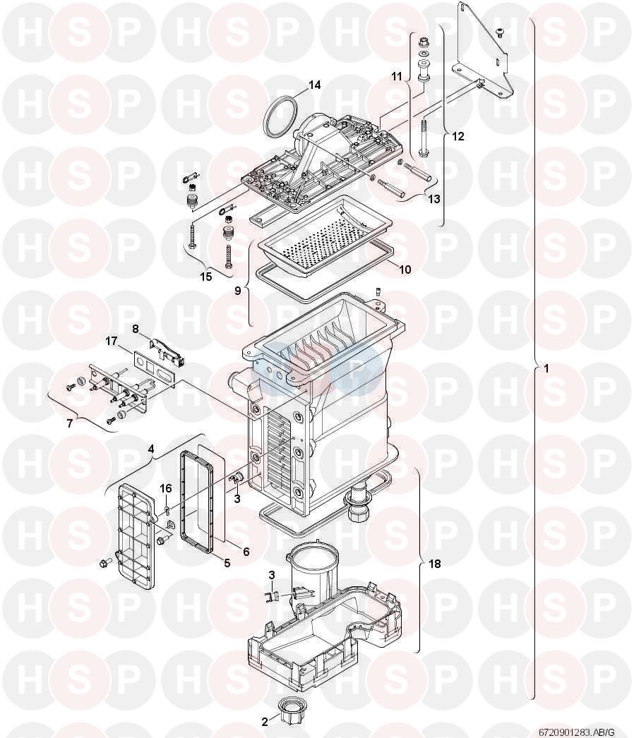Worcester GREENSTAR HIGHFLOW 440 (BURNER/HEAT EXCHANGER